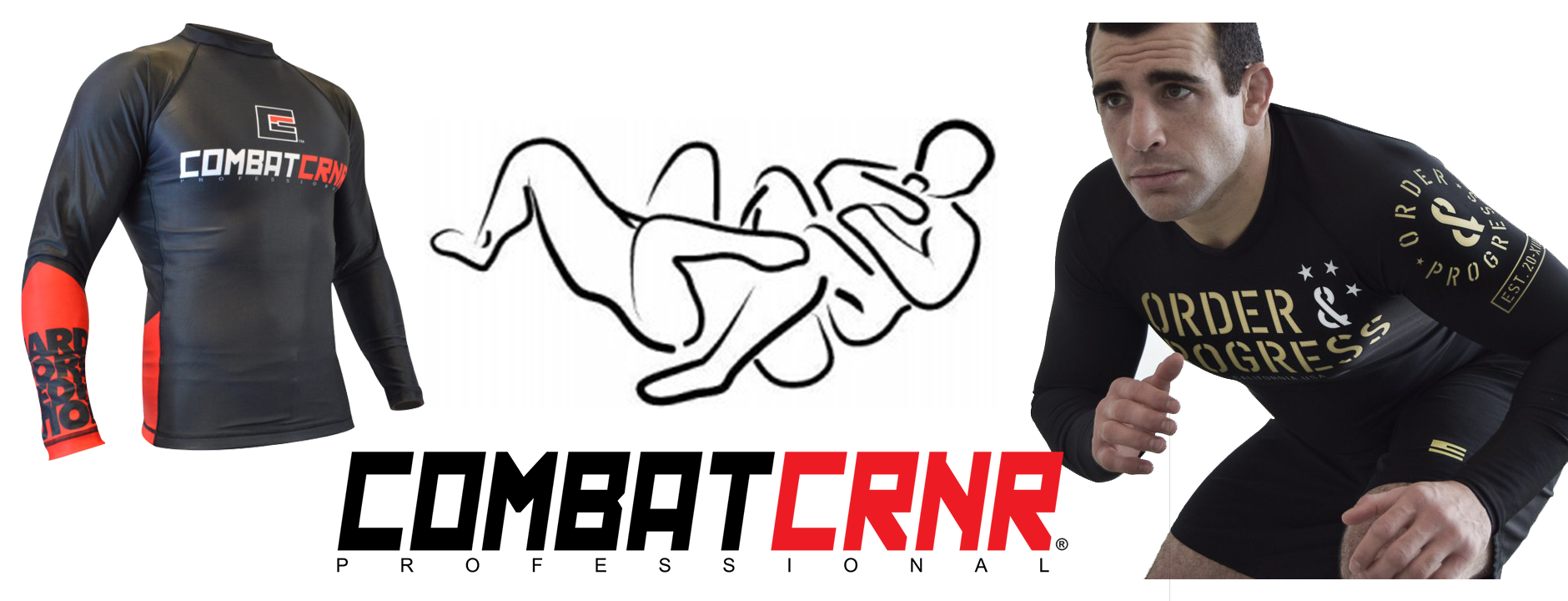 Combat Corner rash guard for mma og bjj