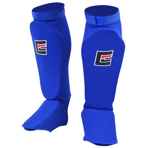Slip on Elastisk Shinpads - Blå