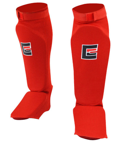 Slip on Elastisk Shinpads - Rød