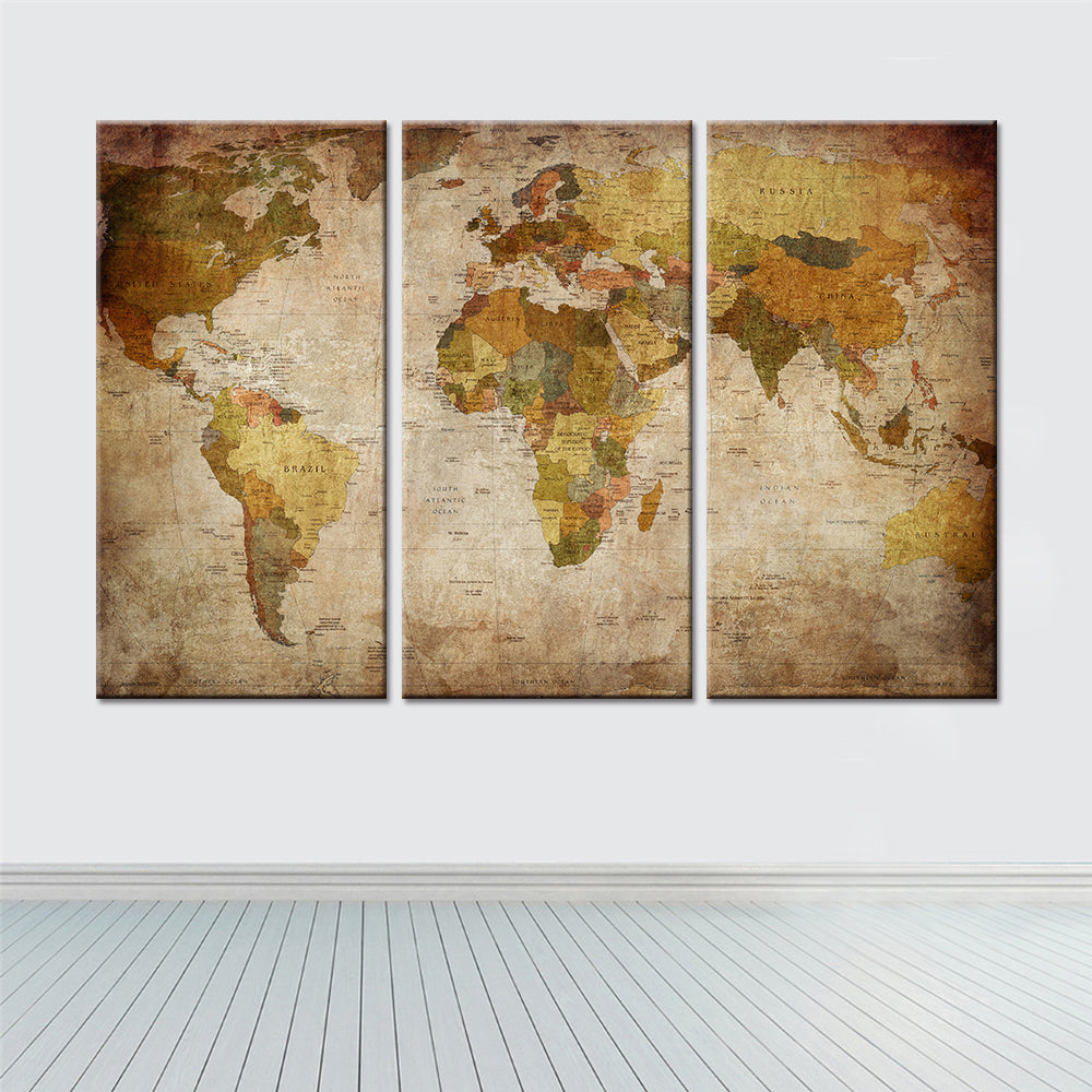 pieces canvas world map wall art.  pieces canvas world map wall art – travelifestyle