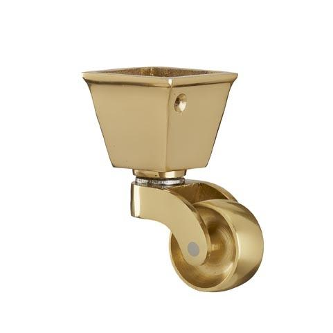 Brass Castor ( Square Cup)