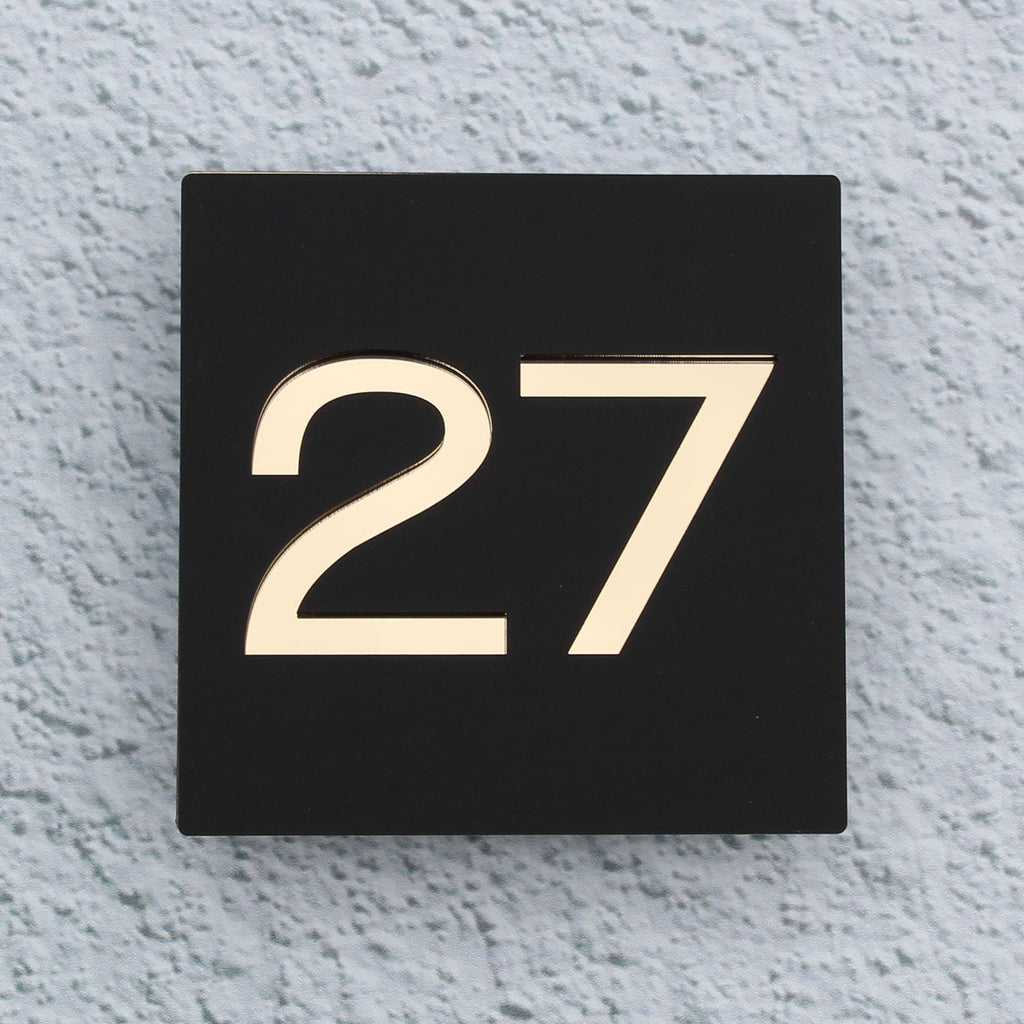 Contemporary House Number Acrylic Modern Sign