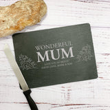 Wonderful Mum Personalised Slate Rectangular Chopping Board