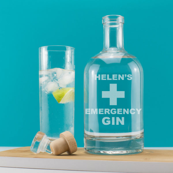 Personalised Emergency Gin Decanter