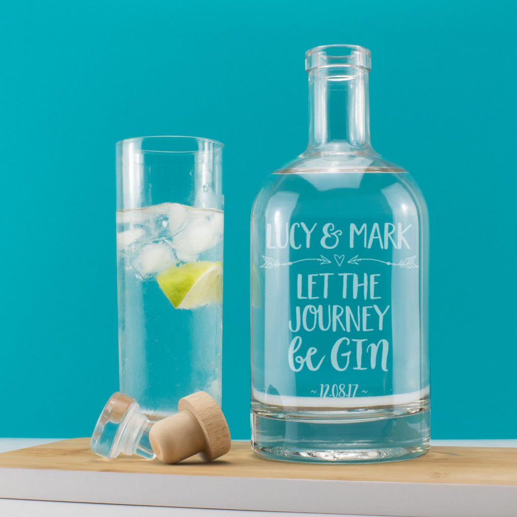 Personalised Couples Let the Journey beGIN Drink Decanter