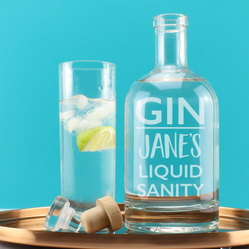 Personalised Gin Liquid Sanity Drink Decanter