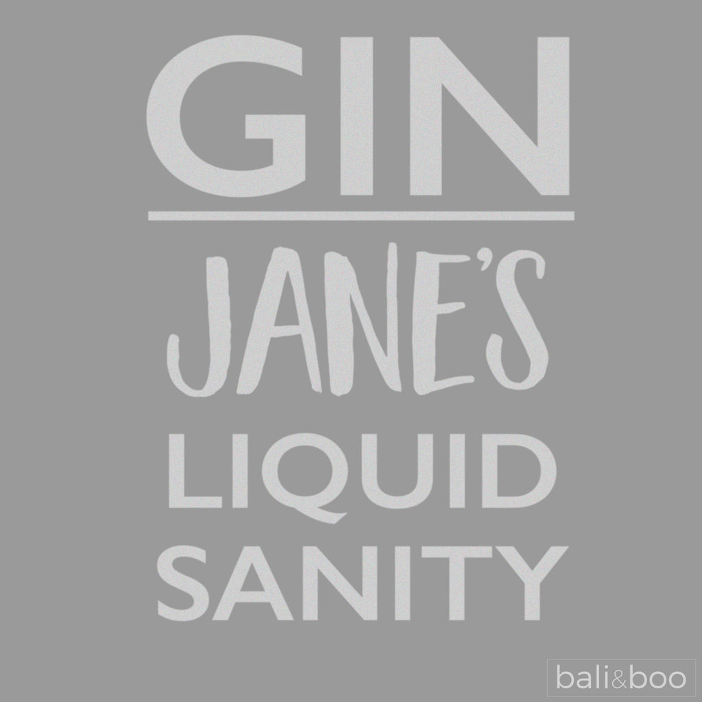 Gin Liquid Sanity Personalised Drink Bottle Gift