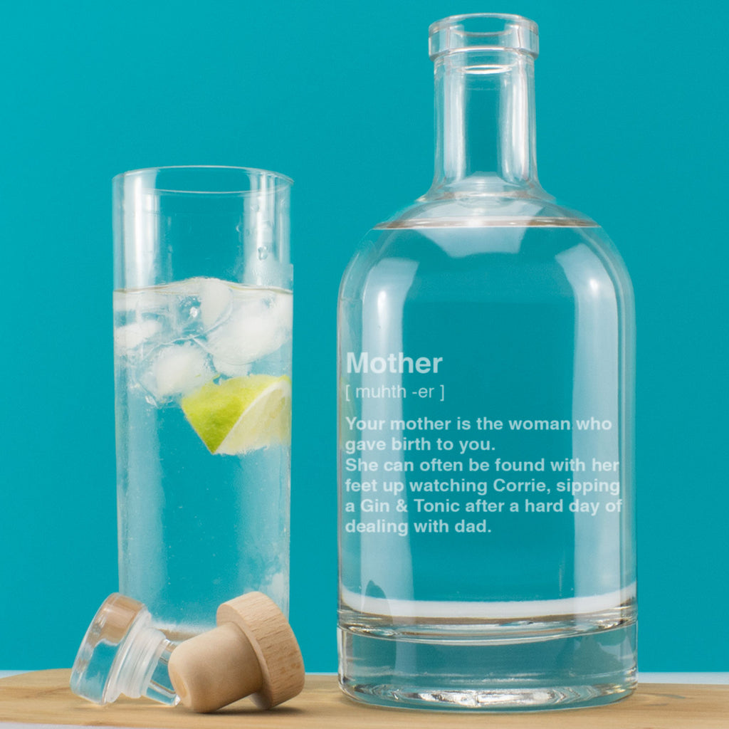 Personalised Mother Definition Engraved Drink Decanter