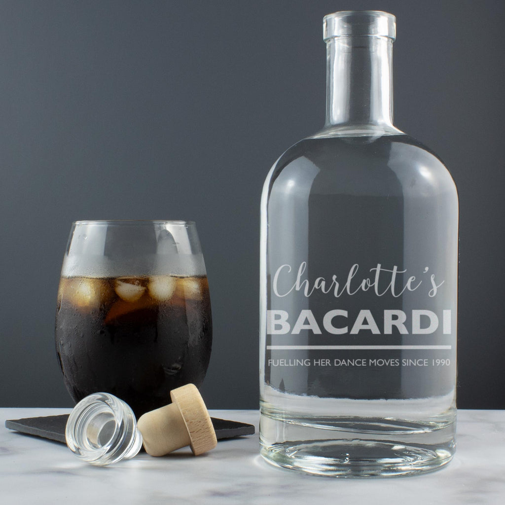 Personalised 'Any Drink' Witty Message Engraved Drinks Decanter