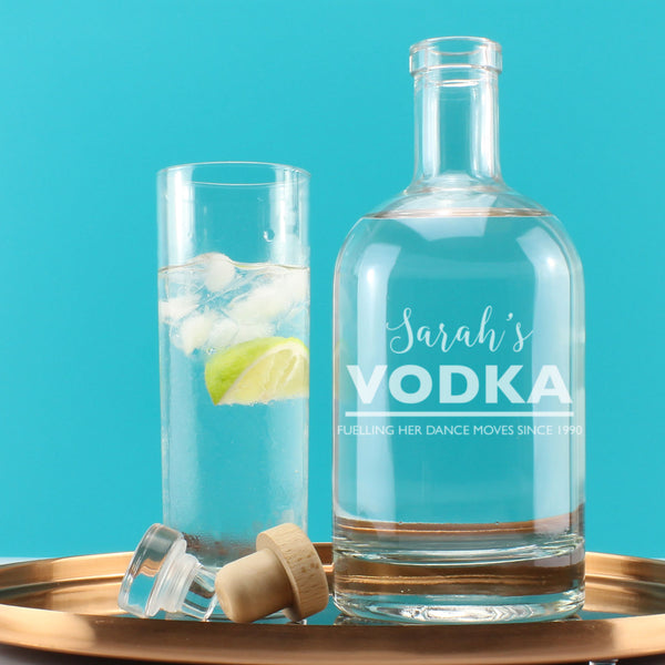 Personalised Vodka Witty Message Engraved Drinks Decanter