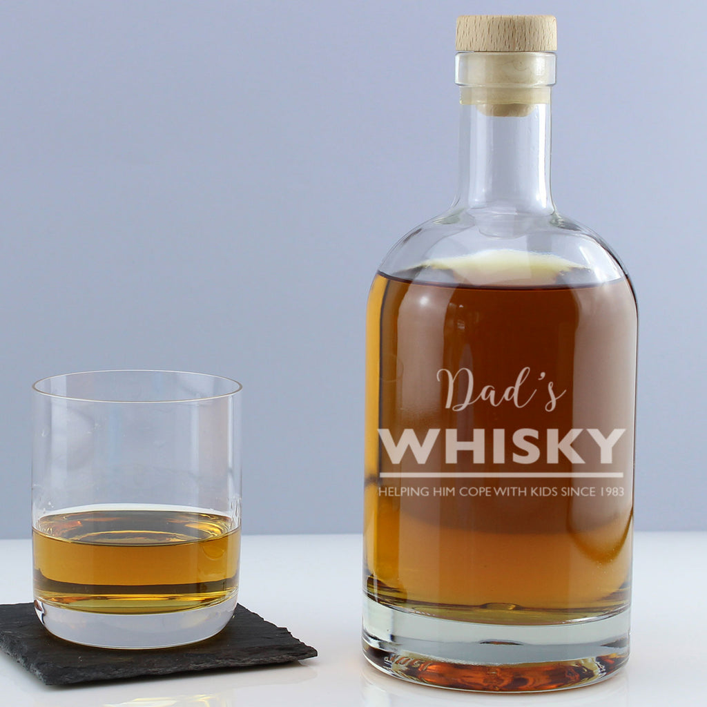 Personalised Whisky Witty Message Engraved Drinks Decanter