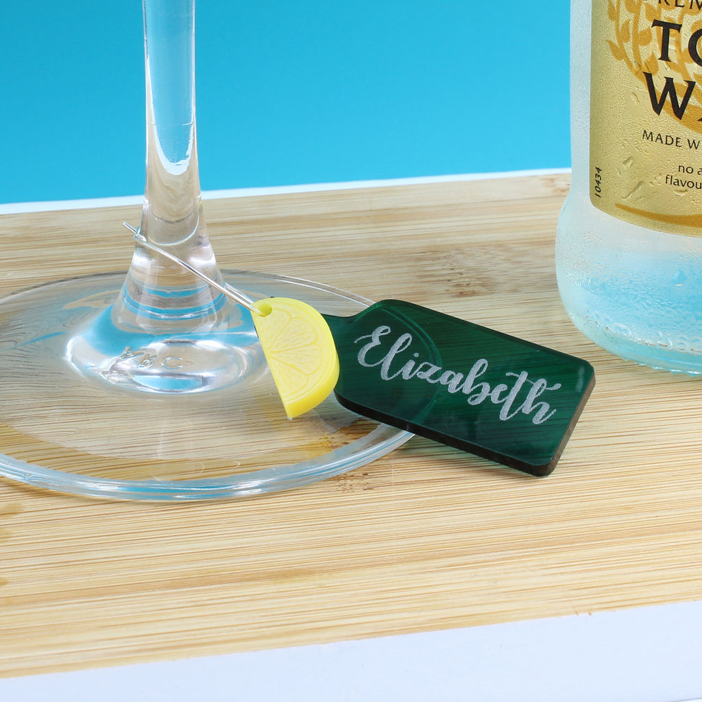 Personalised Gin and Tonic Glass Charm