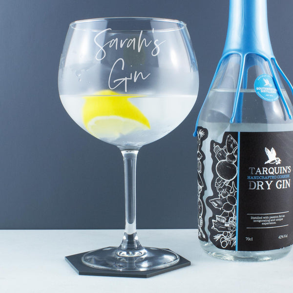 Personalised Script Name Gin and Tonic Copa Balloon Glass