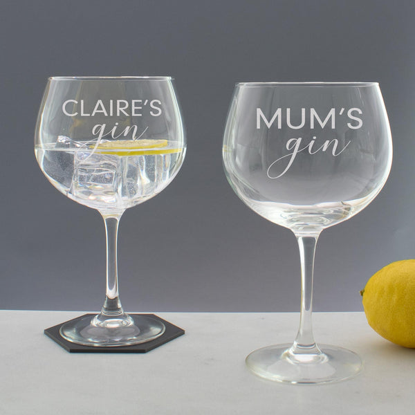 Personalised Gin Copa Balloon Gin & Tonic Glass