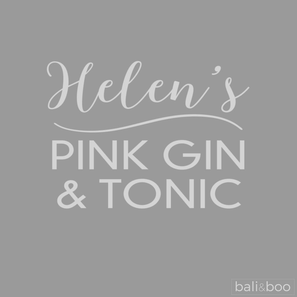 Personalised Any Name Pink Gin & Tonic Copa Balloon Glass