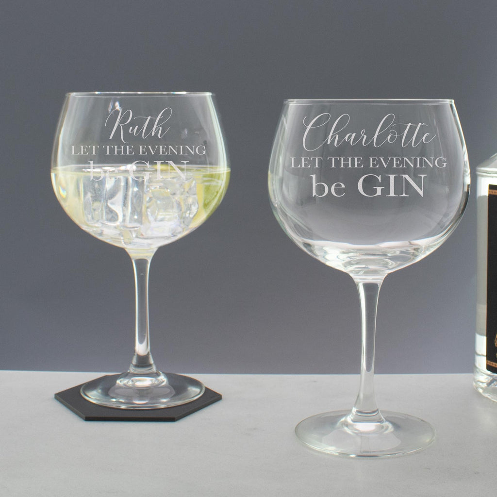 Personalised Let the Evening beGin Copa Balloon Glass