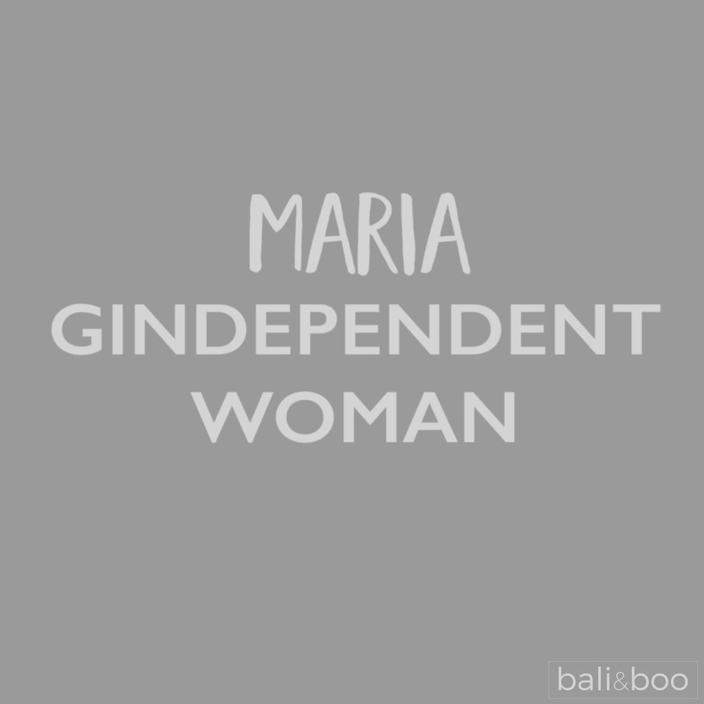 Personalised Gindependent Woman Funny Copa Balloon Glass