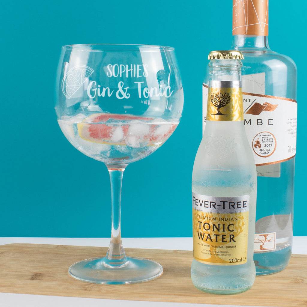 Personalised Gin & Tonic Copa Balloon Glass