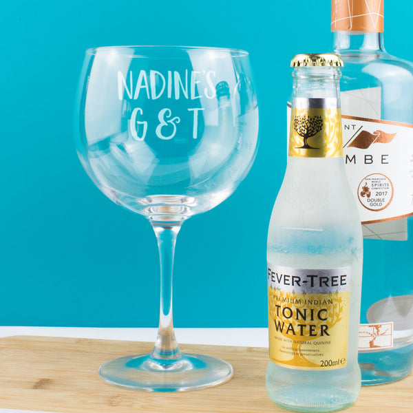 Personalised G & T Gin Copa Balloon Glass
