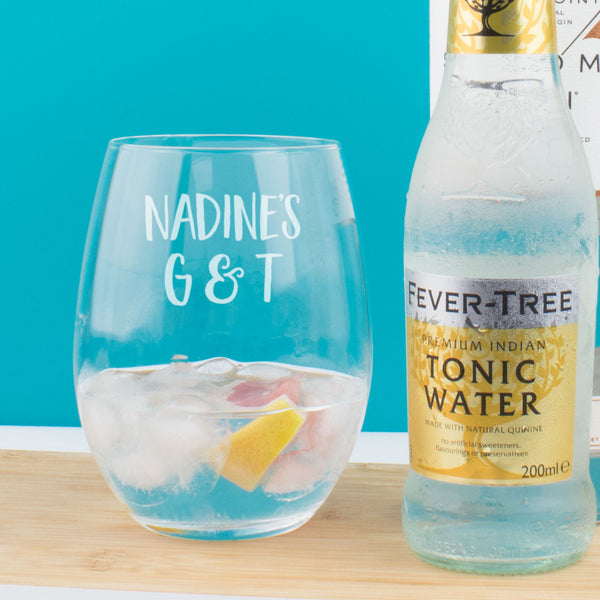 Personalised G&T Tumbler Glass