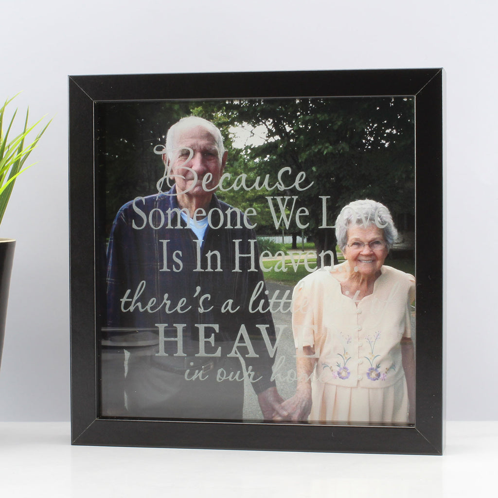 Personalised Memorial Bereavement Etched Frame Print