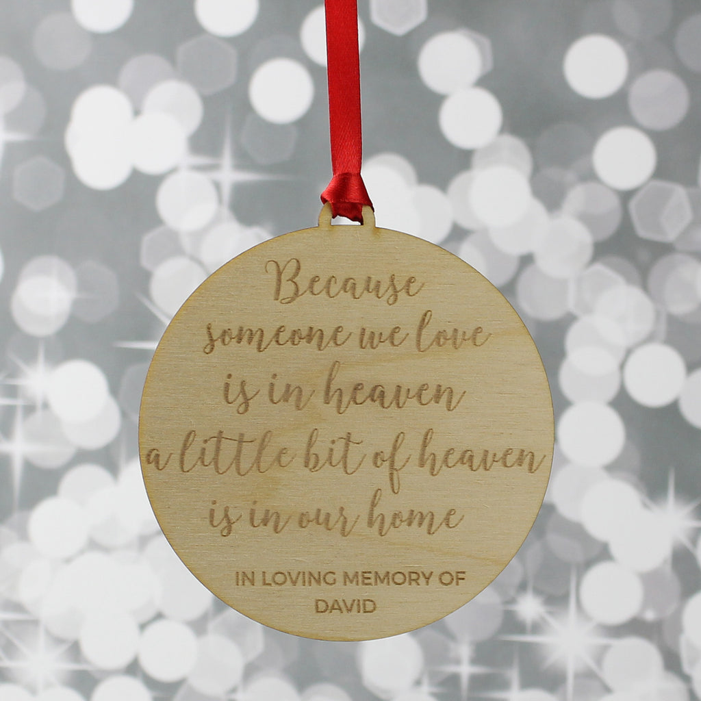 Remembrance Christmas Tree Decoration
