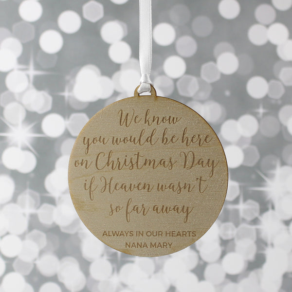 Personalised Remembrance Christmas Decoration