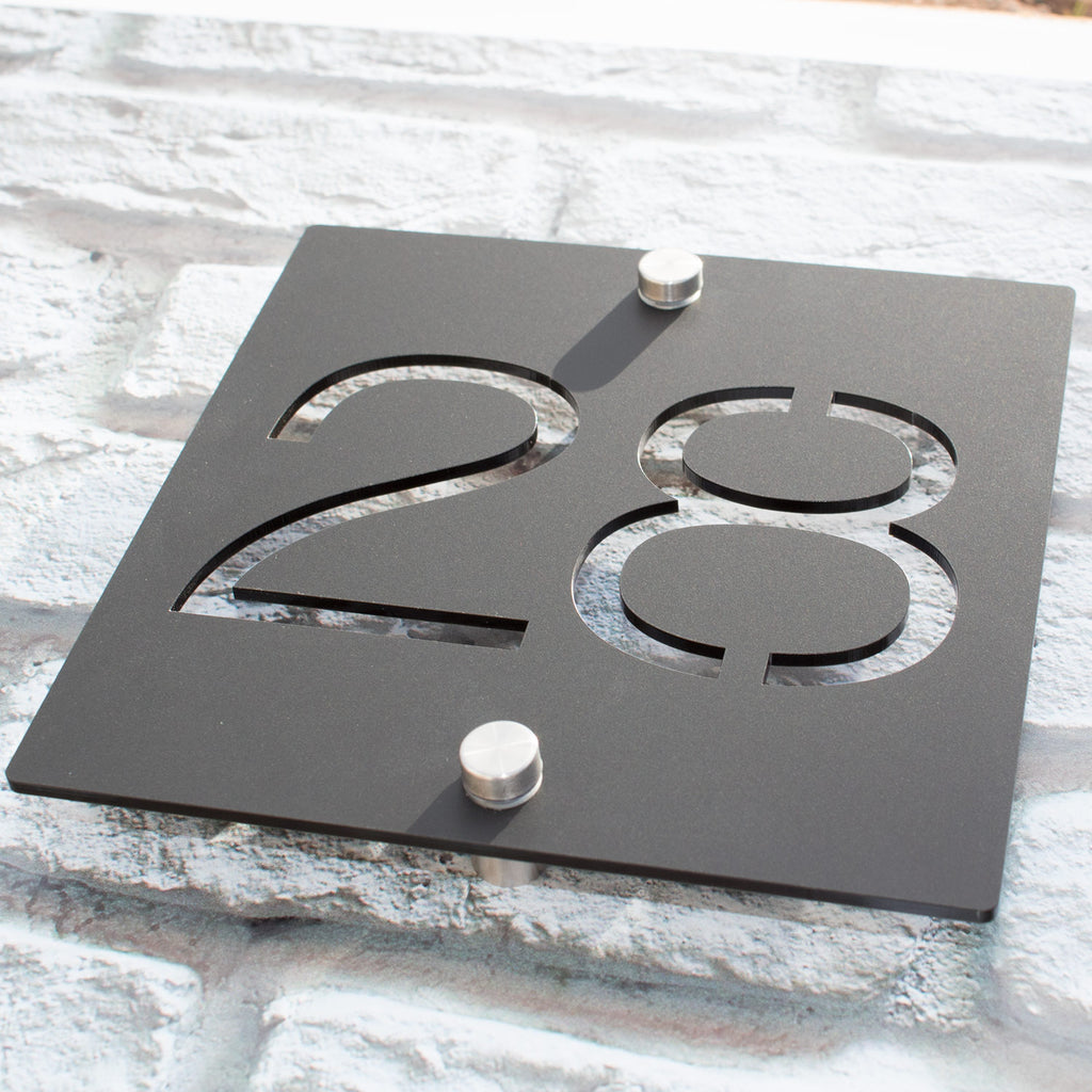 Contemporary House Number Acrylic Sign