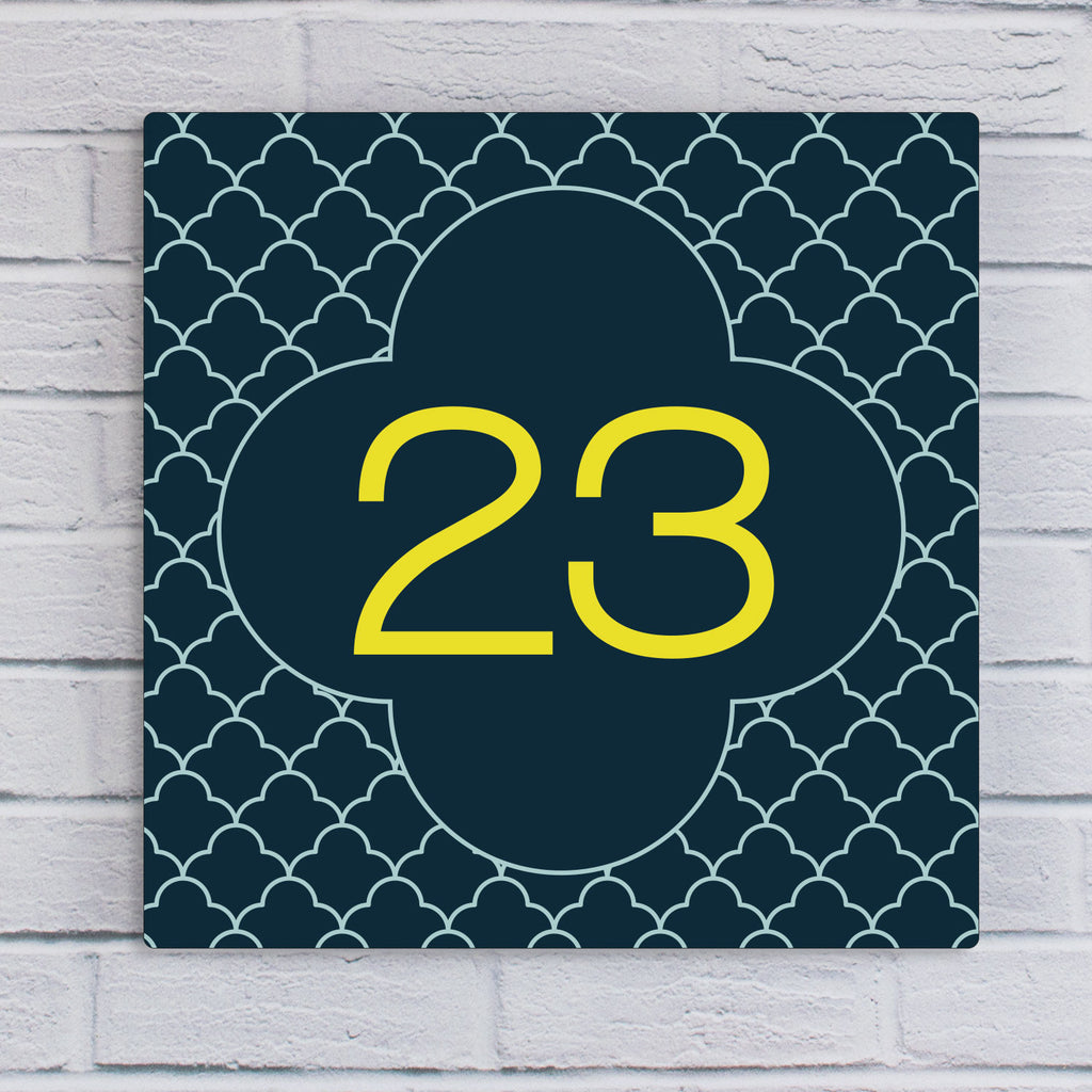 Art Deco Style Acrylic House Number Sign