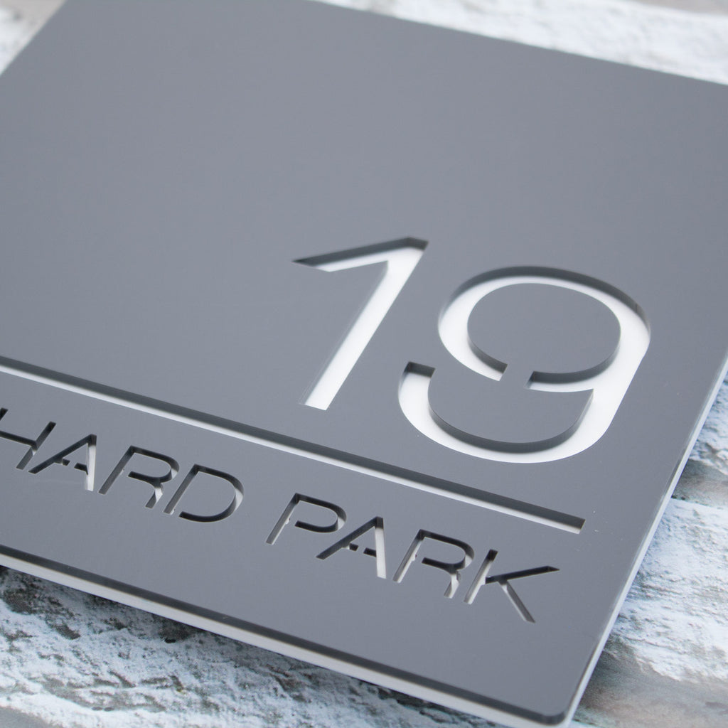 Contemporary Acrylic House Number Plaque