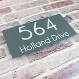 Rectangular Modern Contemporary Floating Acrylic House Sign (Style3)