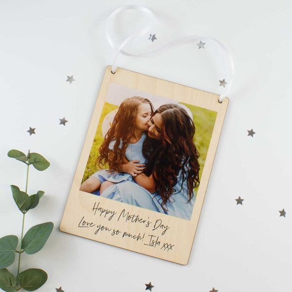 Personalised Hanging Wooden Photo Plaque