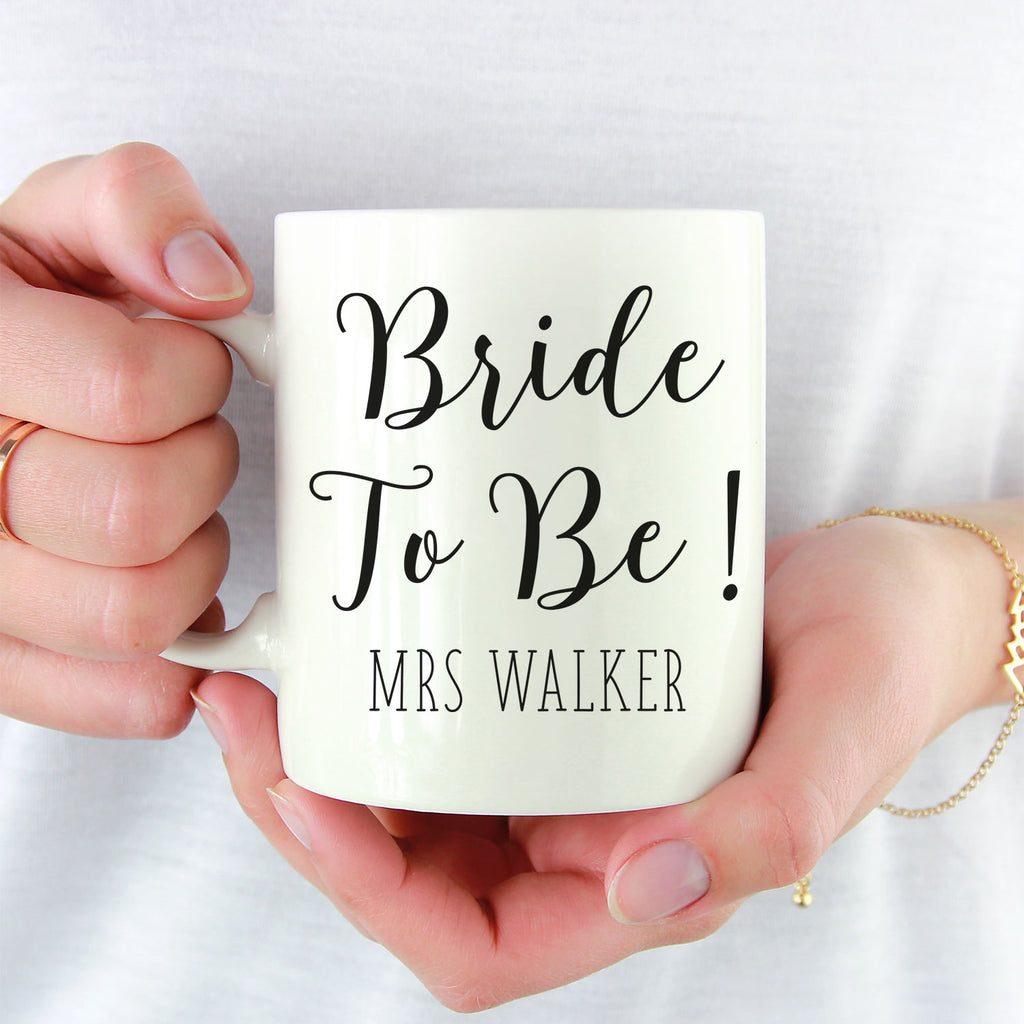 Personalised Bride to Be Wedding Mug