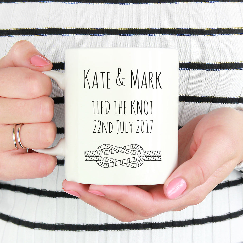 Personalised Wedding 'Tied the Knot' Mug