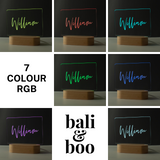 Personalised Name Children's Night Light - Nursery Lamp - 7 colour rgb