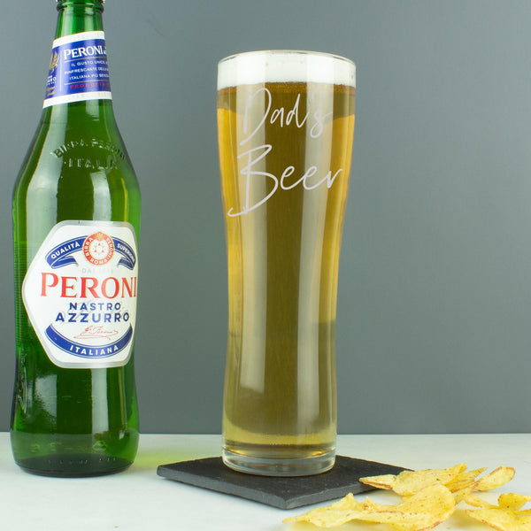 Personalised Handwritten Script Style Name Pint Glass