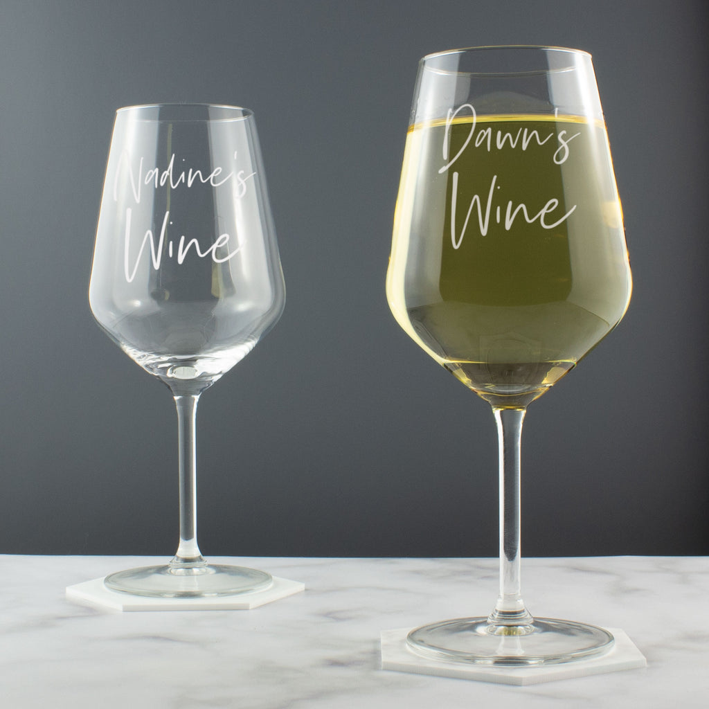 Personalised Handwritten Style Large Wine Glass