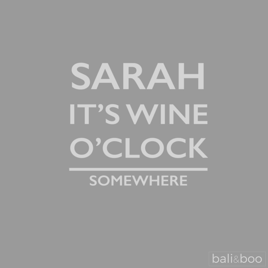 Personalised It's Wine O'Clock Large Wine Glass