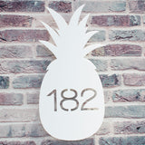 Contemporary Pineapple Shape House Number Sign