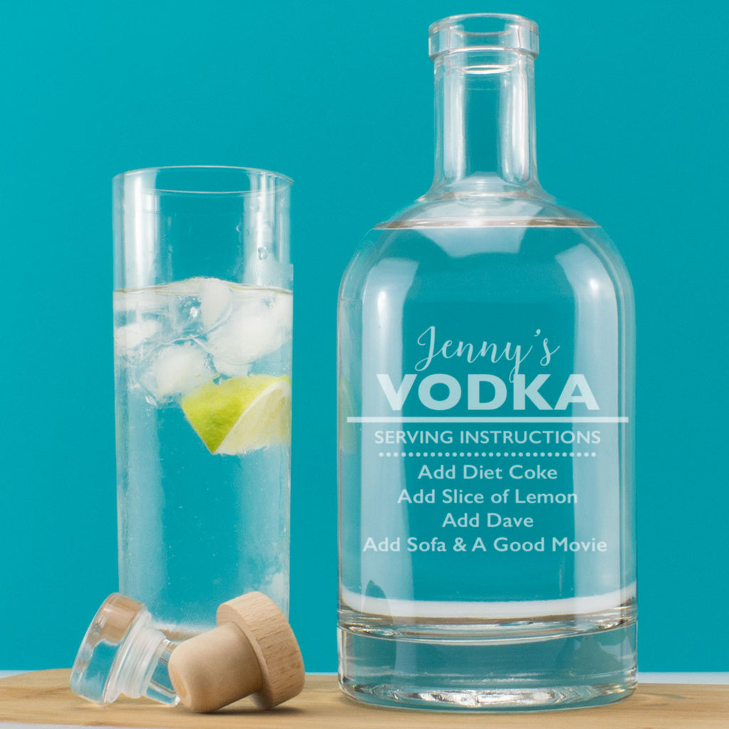 Personalised Witty Serving Instructions Decanter (Any Drink)