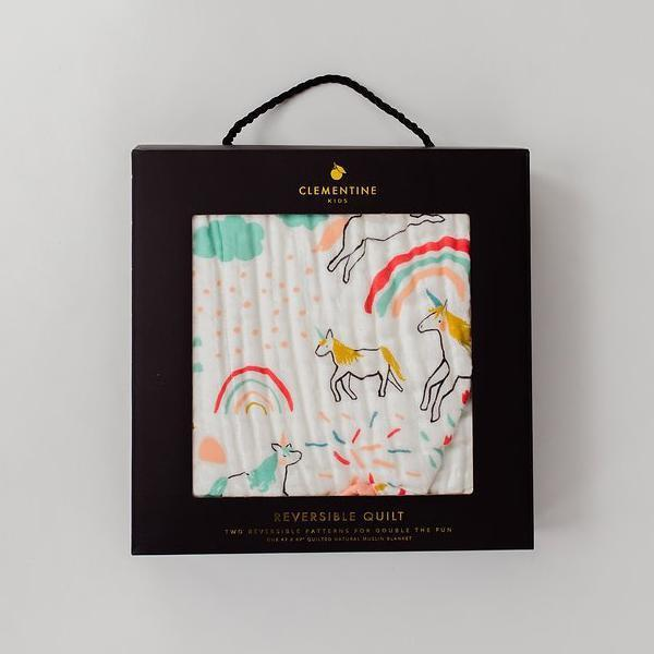 Unicorn Land Reversible Quilt by Clementine Kids-Clementine Kids-The Bebe Hive