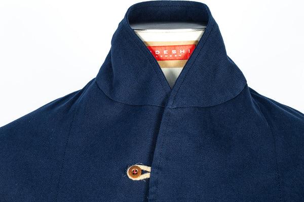 Navy Cotton Canvas Duffle Corto