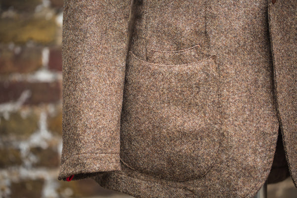 Chocolate and Honey Shetland Tweed Barchetta Blazer
