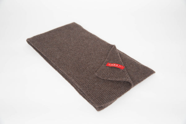 Cashmere Knit Scarf (Chocolate)