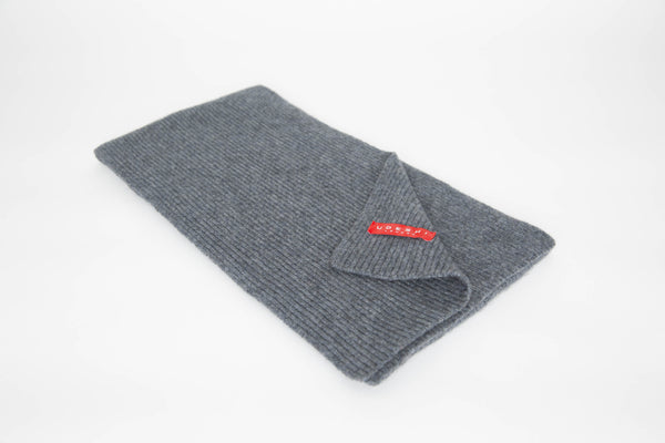 Cashmere Knit Scarf (Grey)