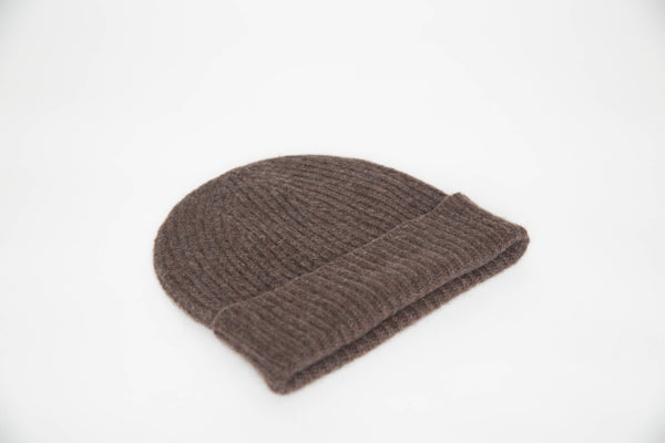 Cashmere Knit Beanie (Chocolate)