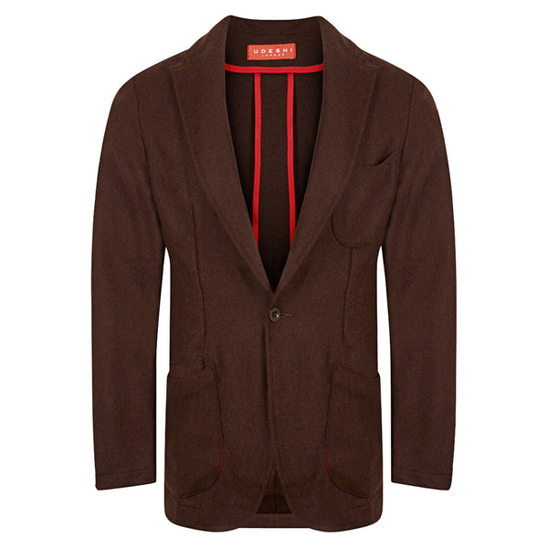 Italian Chocolate Twill Barchetta Blazer