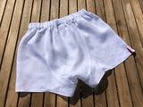 Washed Italian White Linen Boxers