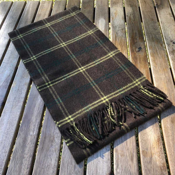 English Woven Cashmere Scarf (Yellow Check)