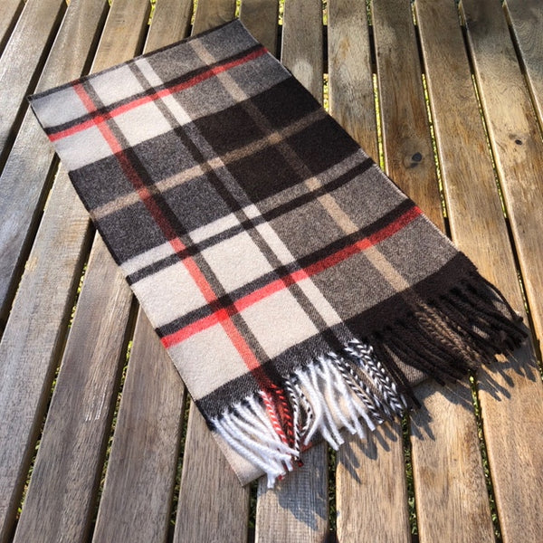 English Woven Cashmere Scarf (Multi Check)